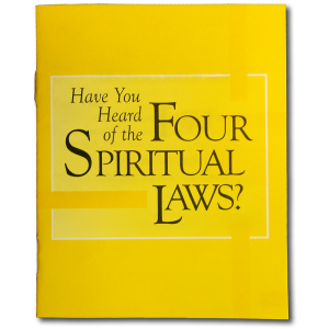 """Picture of four spiritual laws: """"God loves you and has a wonderful plan for your life"""" Yes, in Christ."""
