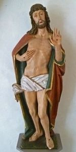 Christ after his Resurrection, with the ostentatio vulnerum, showing his wounds, Austria, c. 1500